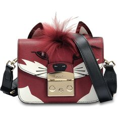 Furla Metropolis Jungle Mini Crossbody Bag in Toni Brown and Ares Leather