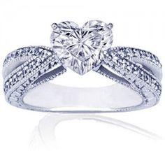 heart wedding rings for women romantic heart shaped diamond engagement