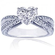 heart wedding rings for women romantic heart shaped diamond engagement - Heart Wedding Ring