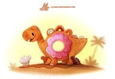 Daily Paint #1252. Donusaur by Cryptid-Creations Time-lapse, high-res and WIP sketches of my art available on Patreon (: Twitter • Facebook • Instagram • DeviantART