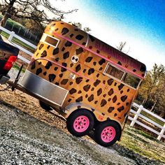 Hand-painted, custom bumper pull trailer from Glam&Grit! Definitely trailer goals!