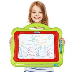 AMAV Flip 'N Glow Table Top Easel for Kids - The Ultimate Art Center for Crafty Kids With 8 Different Features in One Table