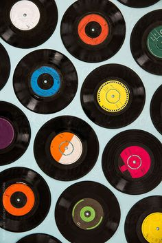 Collection of vintage and modern vinyl records by Ruth Black - Vinyl, Record - Stocksy United Boxing Day, 70s Aesthetic, Wall Paper Phone, Vinyl Music, Vintage Vinyl Records, Music Images, Photo Wall Collage, Mode Vintage, Vintage Black