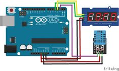 This glowing temperature sensor for air-conditioned car with Arduino 7 Segment LED display & DHT11 sensor makes a practical sense.