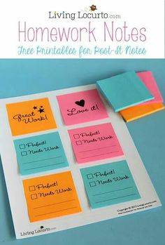 What a great classroom idea!  http://www.livinglocurto.com/2013/08/free-printable-notes/