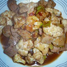 Blumenkohlwok mit Schweinefleisch süßsauer http://vom-windbeutel-verweht.blogspot.de/2012/12/blumenkohlwok-mit-schweinefleisch.html