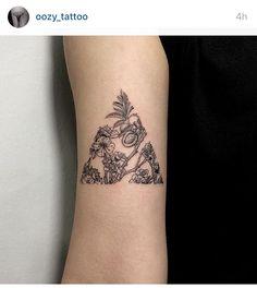 Floral Triangle tattoo