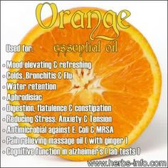 Orange Essential Oil uses Essential Oil Uses, Doterra Essential Oils, Natural Essential Oils, Natural Oils, Natural Health, Sweet Orange Essential Oil, Healing Oils, Aromatherapy Oils, Healing Herbs
