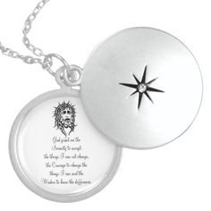 "Round Locket with ""The Serenity Prayer"""