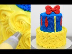 How To Make a Disney SNOW WHITE Cake - Buttercream Decorating by CakesStepbyStep - YouTube
