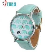 OTOKY Elephant Pattern Quartz Watch Women Dress Watches Relogio Feminino Fashion Leather Bracelet Watch Clock #30 Gift 1pc #Affiliate