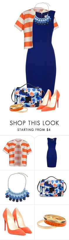"""""""orange & blue"""" by sagramora ❤ liked on Polyvore featuring Stella Jean, Damsel in a Dress, Chicnova Fashion, Loeffler Randall, Christian Louboutin and Dsquared2"""
