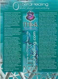 Theta Healing. I just learned the first two levels, DNA 1 and DNA 2. Its wonderful.