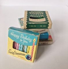 Small Vintage Birthday Candles Set of 5 Vintage Candles, Vintage Birthday, Candle Set, Birthday Candles, Special Occasion, Birthdays, Happy Birthday, Anniversary, Shapes