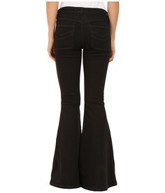 Free People Stella High Rise Flare Jeans in Black Black - Zappos.com Free Shipping BOTH Ways