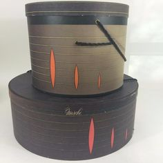 Nothing better than storing your vintage hats in original #hatbox from the era! Offering here Womens  1960's #Marche Hat Box Set 2 Original Mid Century Modern Steigers MCM