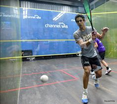 Rotate your upper body at the beginning of your swing so that you are facing the back corner. Keep your shoulders facing the sidewall at impact.  Watch this week's playlist: https://squashskills.com/squash/-/getting-the-ball-out-of-the-back-corners/getting-the-ball-out-of-the-back-corners-2999/  #squash #psa #backhand