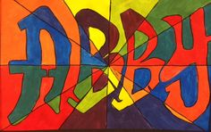 elementary art projects with names - Google Search