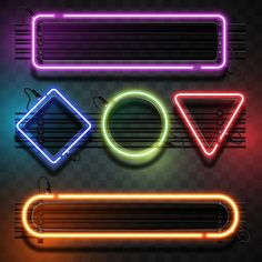 Neon lights with geometrical shapes PNG and Vector Dark Background Wallpaper, Neon Wallpaper, Textured Background, Poster Background Design, Best Photo Background, Neon Png, Light Up Signs, Overlays Picsart, Neon Design