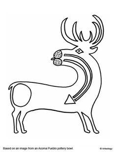 Hopi Kachina Doll Coloring Page Sketch Coloring Page