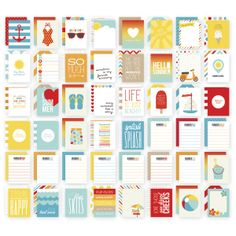 SN@P! Sets Summer 3*4 Inch Cards