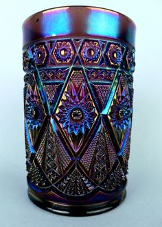 ANTIQUE PURPLE CARNIVAL GLASS TUMBLER | eBay