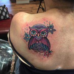 40 Cute Owl Tattoo Design Ideas // May, 2020 Owl Tattoo Design, Tattoo Designs, Cute Owl Tattoo, Watercolor Owl Tattoos, Little Owl, Owls, September, Design Ideas, Angel