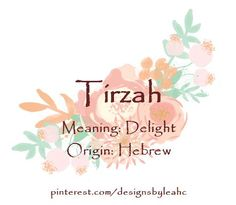 Baby Girl Name: Tirzah. - Awesome Baby Names - Ideas of Awesome Baby Names - Baby Girl Name: Tirzah. Hebrew Girl Names, Biblical Names, Cool Baby Girl Names, Unique Baby Names, New Names, Cool Names, Awesome Names, Baby Born Congratulations, Female Character Names