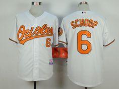 MLB Baltimore Orioles #6 Jonathan Schoop White Jersey