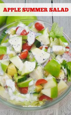 Apple Summer Salad is a refreshing, delicious salad with Apple, Pineapple and more and drizzled with a light Poppy Seed dressing #AppleSalad #SummerSalad #healthyeating