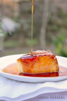Goat Cheese  Flan w/Brandy Reduction Sauce