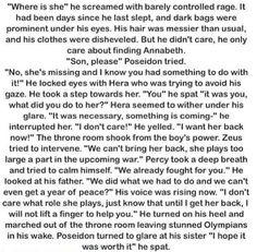 Whoa! Imagine Percy and Poseidon not helping *anyone*
