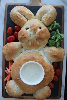 Bunny Bread Recipe for Easter dinner or school party!