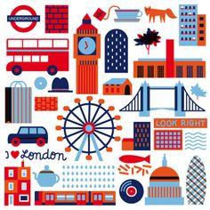 ilustraciones de ciudades-Londres
