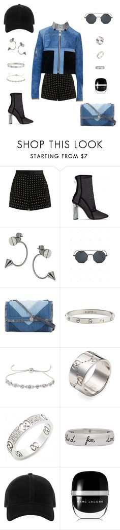"""Untitled #1050"" by janita-slavilova ❤ liked on Polyvore featuring Topshop, Topman, STELLA McCARTNEY, Cartier, Miss Selfridge, Gucci, rag & bone and Marc Jacobs"