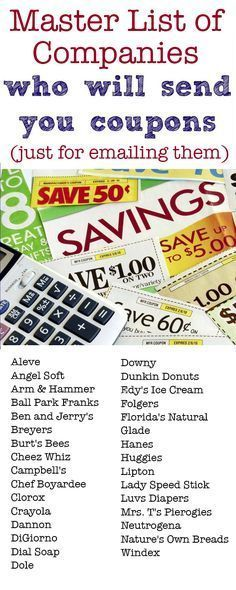 Send an email to any of these companies providing feedback and they'll send you back coupons!