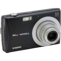 Black Slim Hd Digital Camera Bell+howell 16.0 Megapixel S40hdz