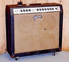 Vintage 1966 Gibson GA-55 RVT Ranger White Panel 4x10 Combo Amp RARE!