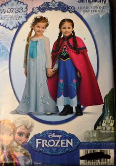 Sewing Pattern Simplicity W0733 Girls' Costume Frozen Uncut Complete Size 3-8 by GoofingOffSewing on Etsy
