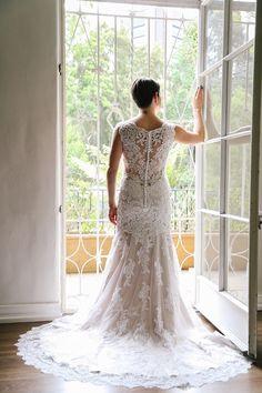 #Maggiebride wore Melanie by Maggie Sottero at her UCLA-inspired campus wedding   Elizabeth Burgi Photography