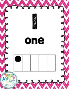 FREEBIE number posters: using numbers 0-20 with the number, number name and ten frame for reference.