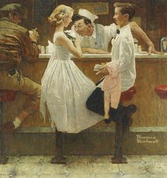 "Norman Rockwell's ""After The Prom"" - Recently sold for $9,125,000 at Sotheby's"
