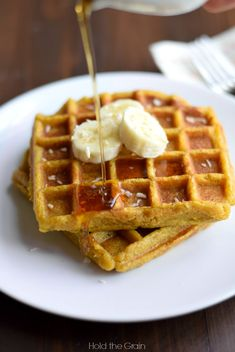 sweet plantains waffles - AIP paleo vegan