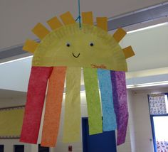 Spring craft rainbow & sun