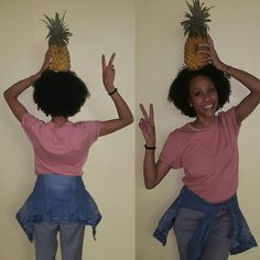 Be a pineapple..stand tall, wear a crown and be sweet on the inside #pineapple #crown #naturalhair #natural