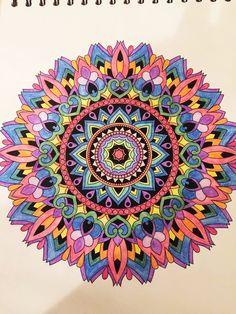 ColorIt Mandalas to Color Volume 1 Colorist: Dreya Beck #adultcoloring #coloringforadults #mandalas #mandala #coloringpages