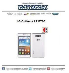 ¿Necesitas un teléfono android de la mejor calidad? LG Optimus L7 P705.  Costo del artículo puesto en El Salvador: $214.27 http://amzn.com/B008DYS016