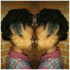Quick style before school today... #mybabygirl#princess#frohawk#kidshair#plaid#schoolgirl#hawkpuffs#braids#KEVAfied#kevaonhair#tuesday#doubletap#gkhair#easyas123#mom#stylist#hairlove#childrenshair#naturalkids#teamnatural#puffsrock