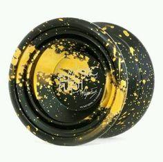 Magic Yoyo N11 Alloy Aluminum  Yo-yo Yoyo Toy Black Golden Strings #MAGICYOYO