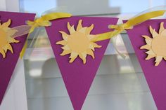 Tangled Party   Sun Banner  Birthday Party by WhimsicallyCreated